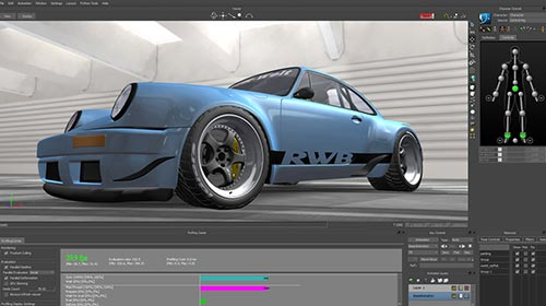 Real time 3d engine