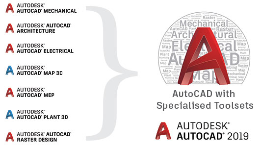 AutoCAD now includes Specialised Toolsets